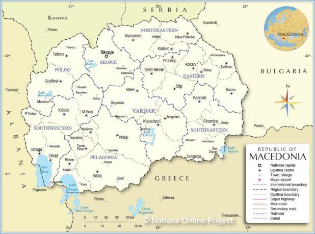 Carte de la Macédonie
