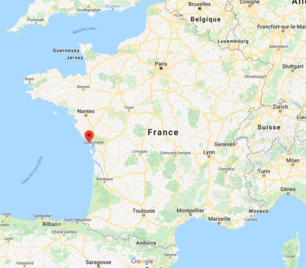 Où se trouve l'île de Ré sur une carte de France