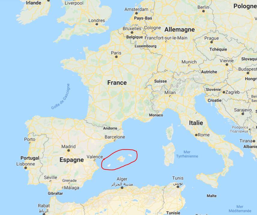 Carte des Îles Baléares - Découvrez un endroit paradisique